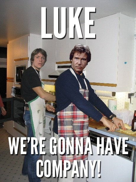Luke and Han - this made me laugh uproariously!