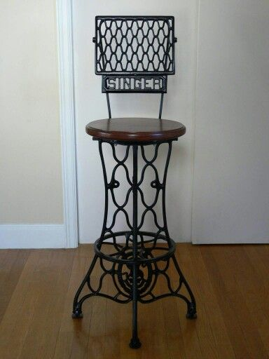 Pedal sewing machine bar stool