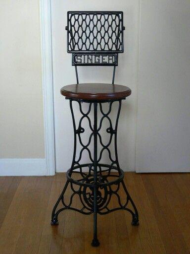 Pedal sewing machine bar stool