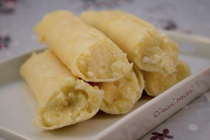 Cannoli di #parmigiano farciti con #patate e ricotta #ricette #recipe #food