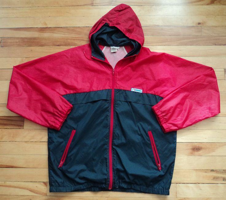 Vintage Brooks Large Zip-Up Windbreaker Jacket VTG by StreetwearAndVintage on…