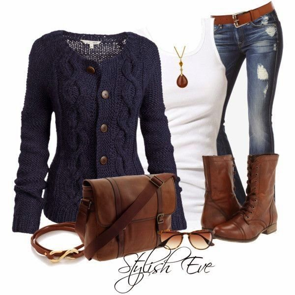 Chic Blue Outfit Idea for Winter