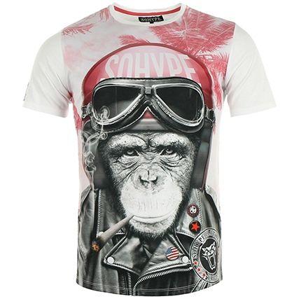 Tee Shirt So Hype Kong Casque Rose Blanc - LaBoutiqueOfficielle.com