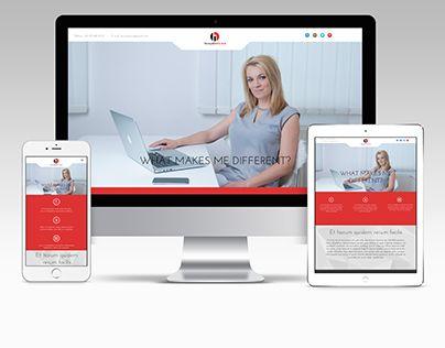 Ezt a modern webdesignt a saját vállalkozásom számára készítettem. Modern, letisztult, kódolható design.