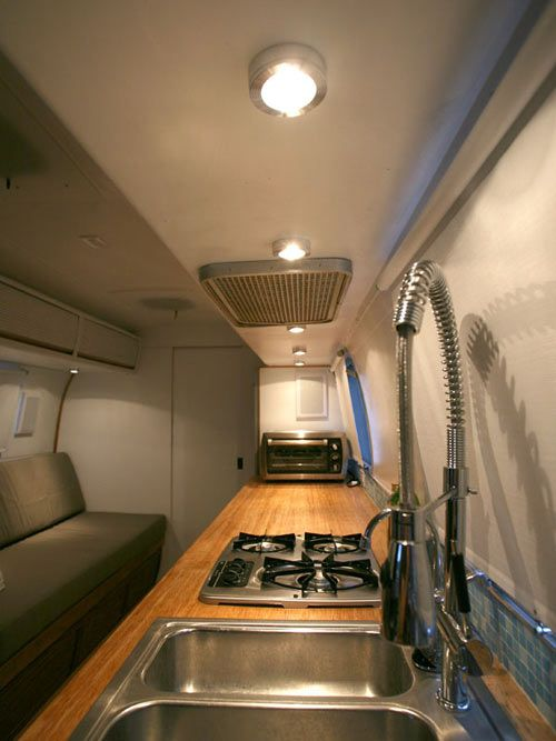 full size sink, very important! Vintage Airstream Becomes a Cozy Place to Live and Work
