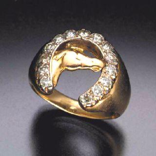 Elvis Presleys first horseshoe ring.