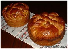 Paska.  Ukrainian Easter bread recipes and designs.