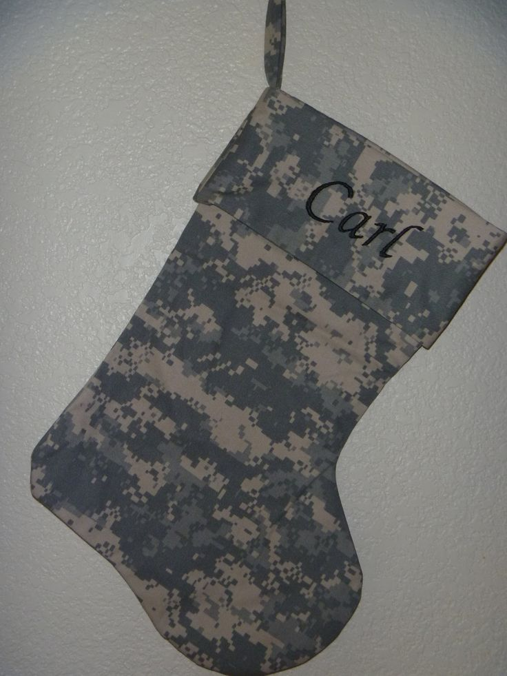 Army ACU Christmas Stocking by MarshaChasteen on Etsy, $15.00