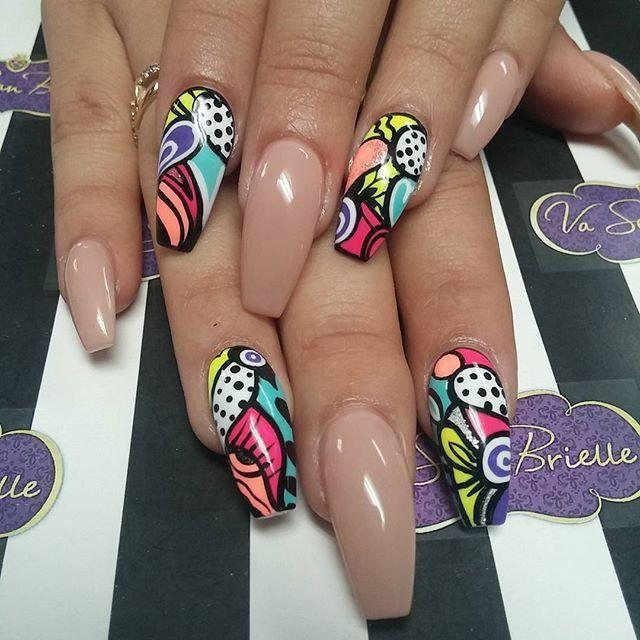 Coffin nails @KortenStEiN Nail Design, Nail Art, Nail Salon, Irvine, Newport Beach
