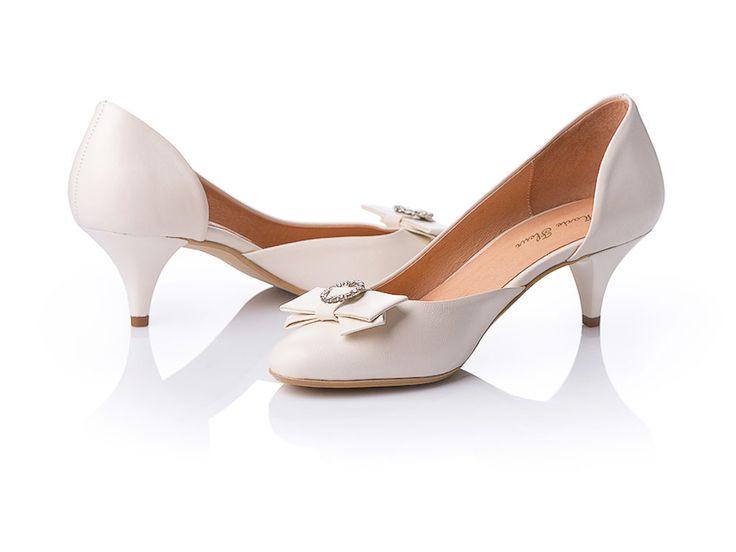 Свадебные туфли айвори 5см