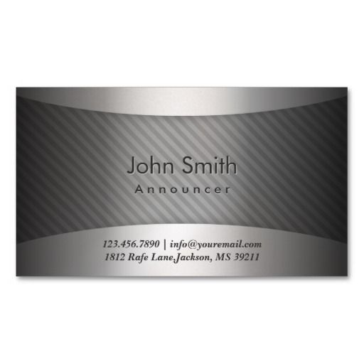 222 best radiotelevision announcer business cards images on modern metal stripes announcer business card colourmoves