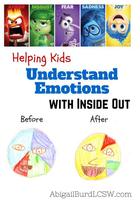 """My recent """"Inside Out"""" Study Guide for helping teens and adults understand emotions has been getting positive feedback on Pinterest. Today I'm sharing some ideas for helping younger kids and tweens (grades K-8) use the Disney/Pixar movie to better understand their feelings."""