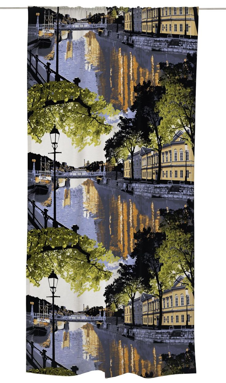 Aurajoki (river in Turku, Finland) - ready to wear curtain by Vallila