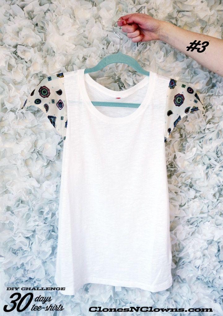 DIY tee-shirt silk sleeves