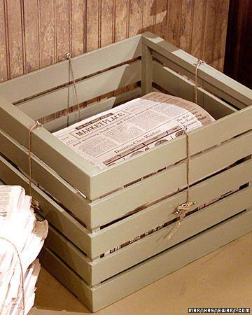 Newspaper Recycling Bin - Martha Stewart Crafts
