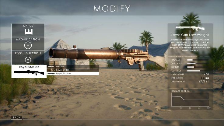 Battlefield 1 - weapon customisation.