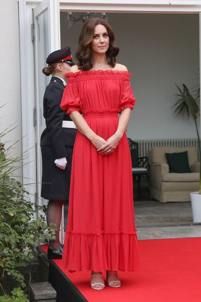 Catherine, Duchess of Cambridge attends The Queen's Birthday Party at the British Ambassadorial Residence during an official visit to Poland and Germany on July 19, 2017 in Berlin, Germany.