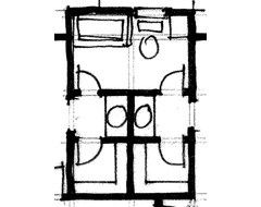 jack & jill bathroom plans with private sink area - Google Search