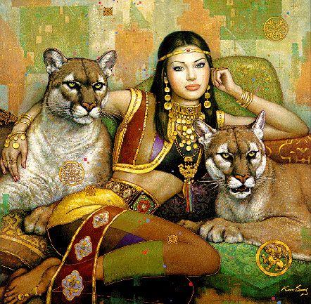 Heather by Karl Bang Visionary Art: