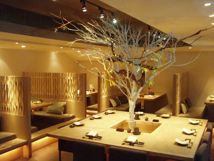 Decorating Fascinating Japanese Restaurant Modern Design Ideas Indoor Plant Stunning Decoration Of
