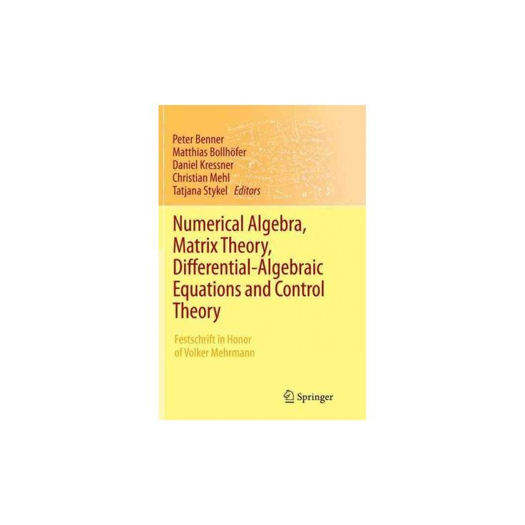 Numerical Algebra, Matrix Theory, Differential-algebraic Equations and Control Theory : Festschrift in