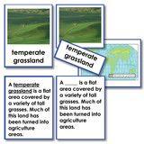 Montessori 123 - Biomes Five Part Card Set-Classified - Montessori Materials