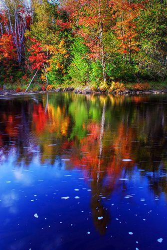 Autumn Reflections, Ragged Falls Provincial Park, Haliburton, Ontario, Canada