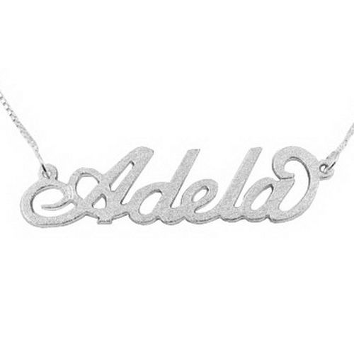 13010 - Brushed Sterling Silver Personalised Carrie Style Name Necklace - $35.40  See http://www.messageonanecklace.com/name-necklaces-limited-offer.html