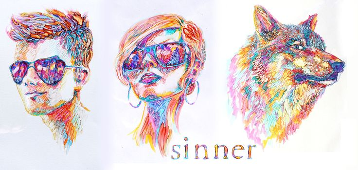 Sinner art by Maggie Stiefvater