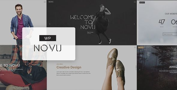 Novu - Modern & Creative WordPress Theme Novu – Modern & Creative WordPress Theme. Novu is clean and modern design suited for various use one page website for your portfolio and business use. Novu contains great features such as an easy-to-use drag and drop page builder that's fully responsive, Premium Slider and Parallax Backgrounds also come with Portfolio , Team and blog sections , That let you have everything you need to get your website landing page.