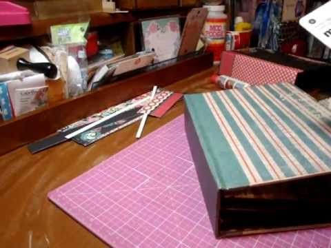 Tutorial for mini album with new binding plus cards & envelopes - Scrapbooking