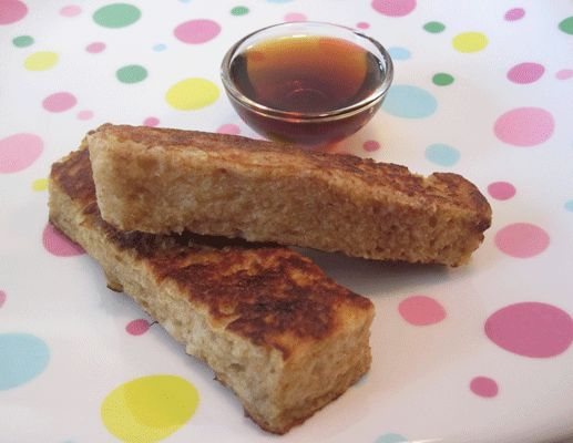 French Toast Sticks Ingredients 2 eggs 1/2 cup whole milk , rice or almond 1/2 teaspoon cinnamon 2 teaspoons honey pinch of salt 5 slices of bread, trim edges and cut into 1 inch sticks 1 tablespoon butter