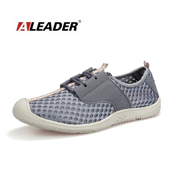 Aleader 2016 Comfortable Mens Flat Shoes Summer Breathable Casual Shoes For Men New Fashion Lace Up Outdoor Men Walking Shoes #Affiliate