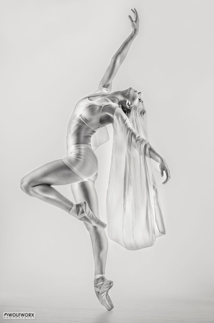 Beautiful young dancer, with a glossy look
