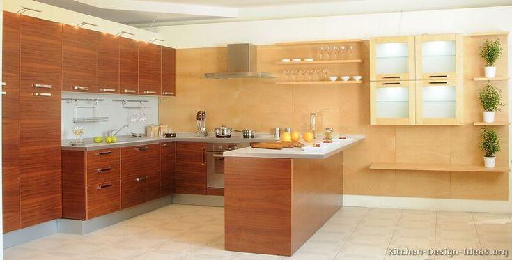 Modern Two-Tone Kitchen Cabinets #06 (Kitchen-Design-Ideas.org)