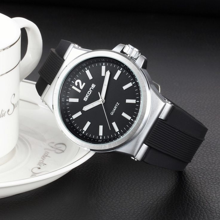 Only US$9.99, black SKONE Fashion Silicone Quartz Analog Luminous Men Watches 30M - Tomtop.com