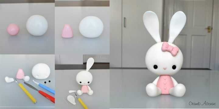 how to make bunny rabbit with modelling clay
