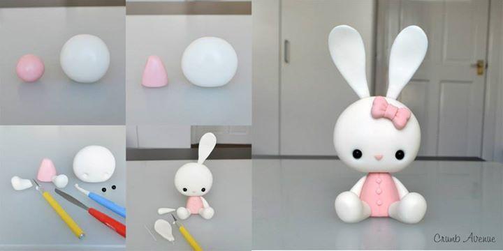 DIY Cute Bunny Polymer Clay Tutorial