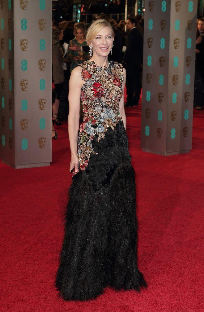 Cate Blanchett British Academy Awards look Alexander McQueen