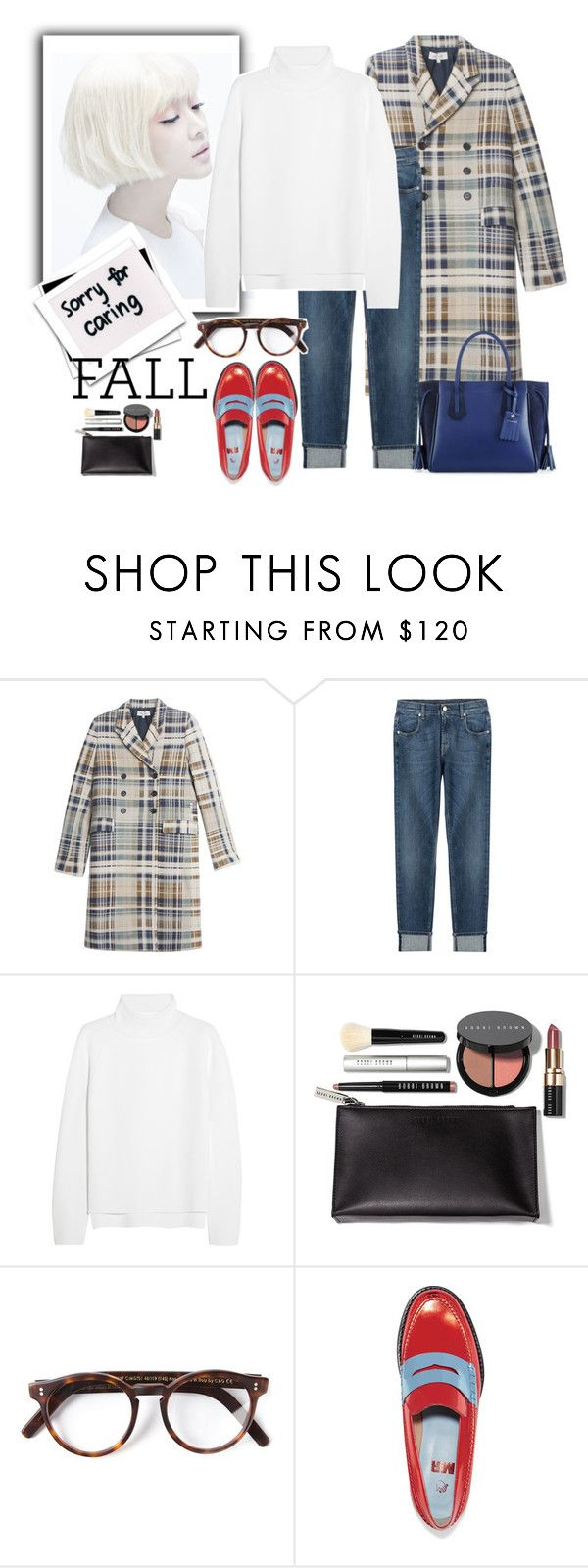 """""""Welcome fall.."""" by gul07 ❤ liked on Polyvore featuring Paul & Joe, 7 For All Mankind, Vanessa Bruno, Bobbi Brown Cosmetics, Cutler and Gross, MR by Man Repeller and Longchamp"""
