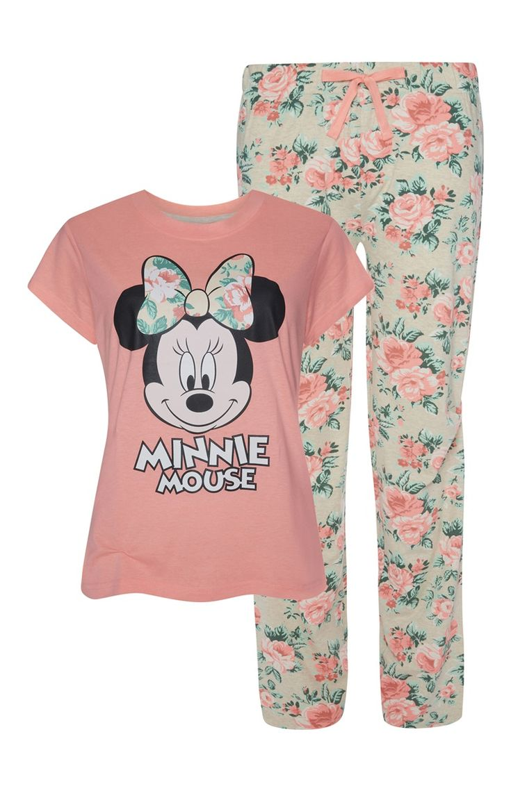 Primark - Minnie Mouse Floral Pj Set