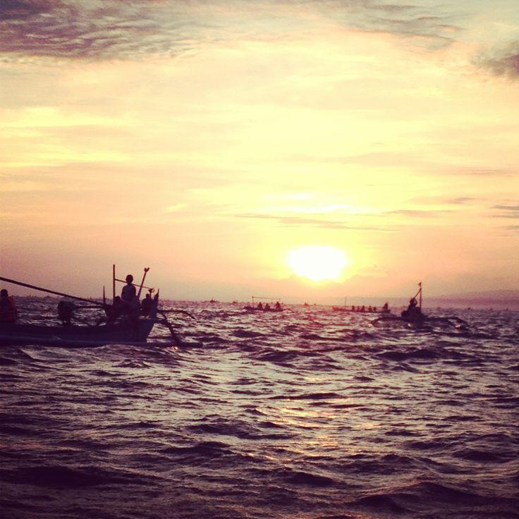 sunrise at Lovina Beach waiting for the dolphins