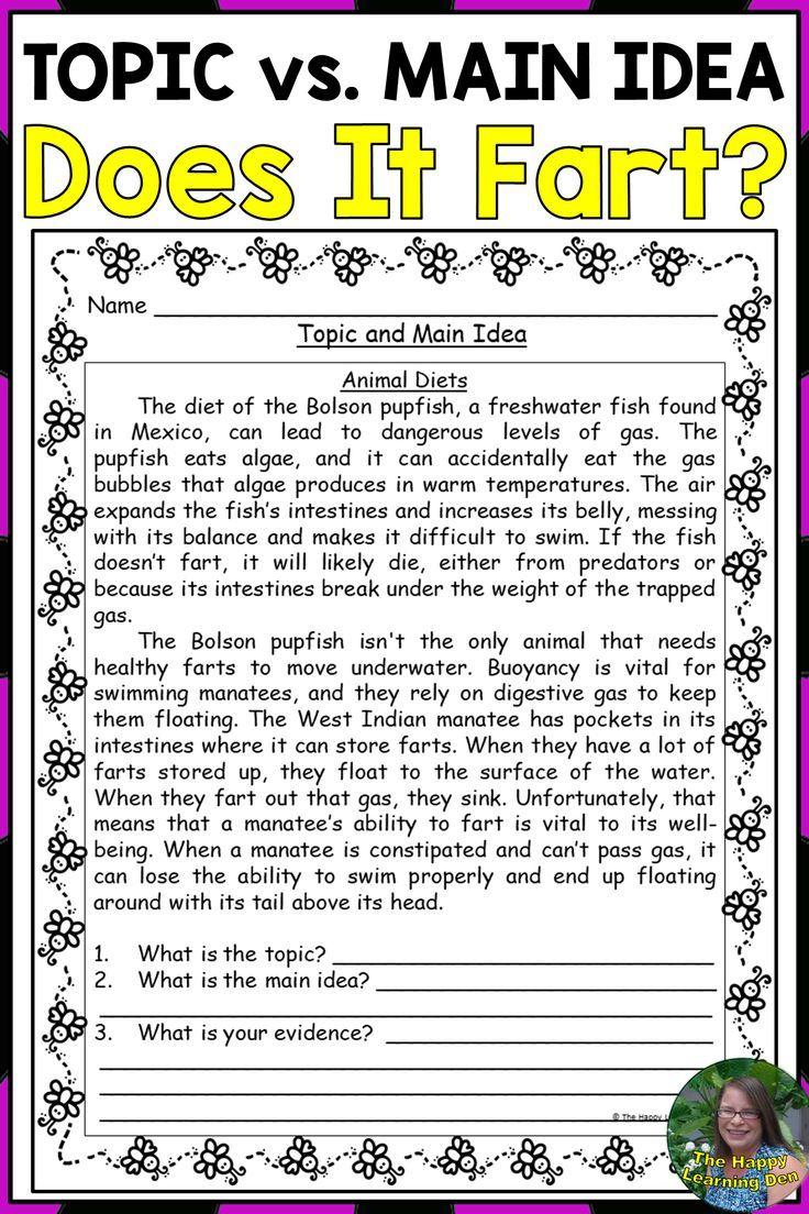 hight resolution of Topic vs Main Idea and Details   Main idea