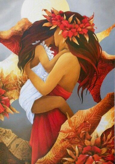 """""""Loin des yeux près du coeur"""" by MOV- Tahitian Artiste"""