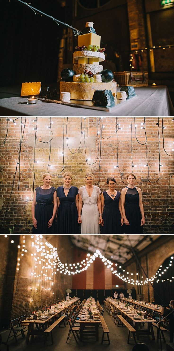 A cool and contemporary English city wedding in London with lots of DIY home made elements.