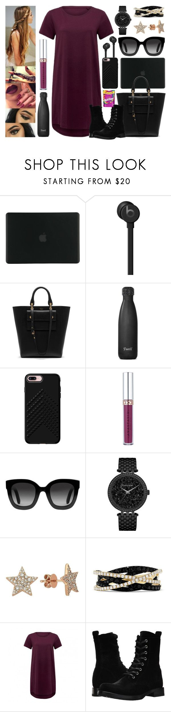 """""""Coffee Shop Look"""" by jessicagrewal ❤ liked on Polyvore featuring Tucano, Beats by Dr. Dre, Mulberry, S'well, Rebecca Minkoff, Gucci, Caravelle by Bulova, Bee Goddess, Effy Jewelry and Frye"""