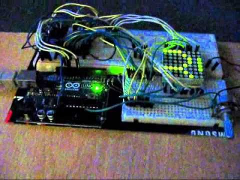 Arduino 8x8 LED Matrix Scrolling Alphabet