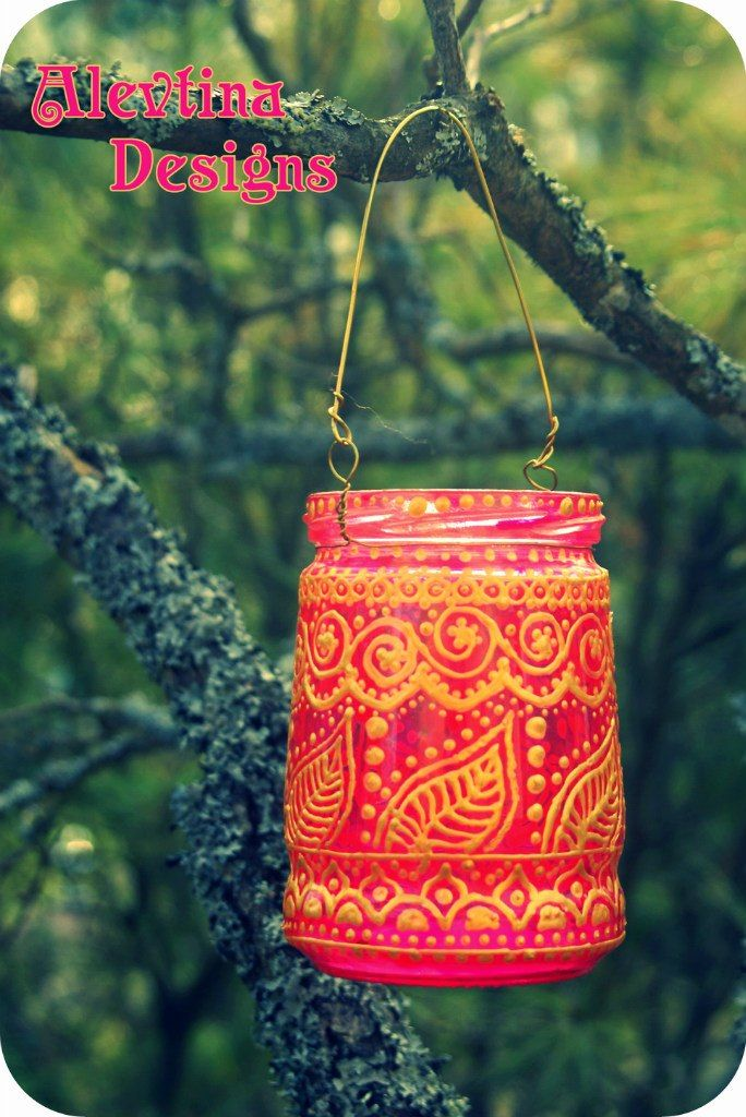 my hand painted lantern