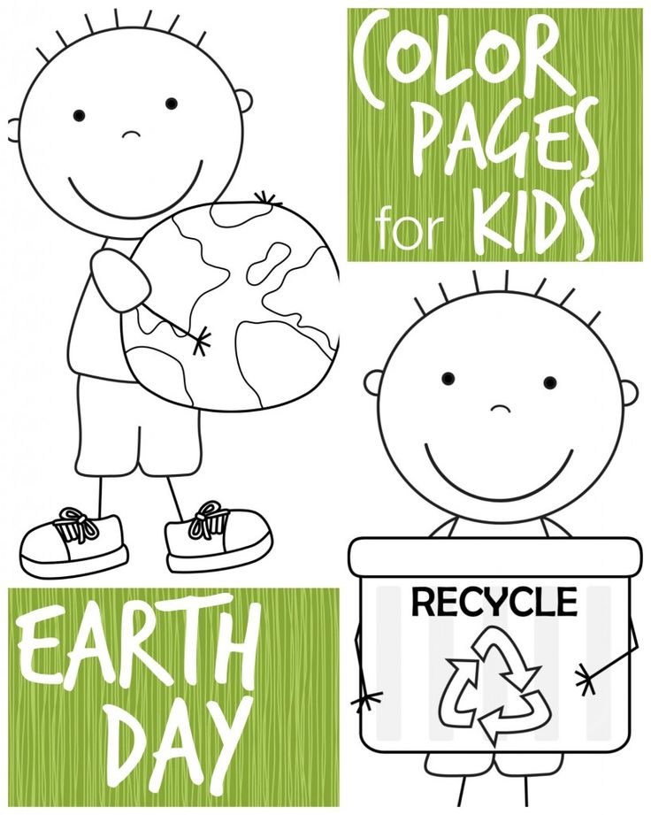 kid color pages  Earth Day for boys