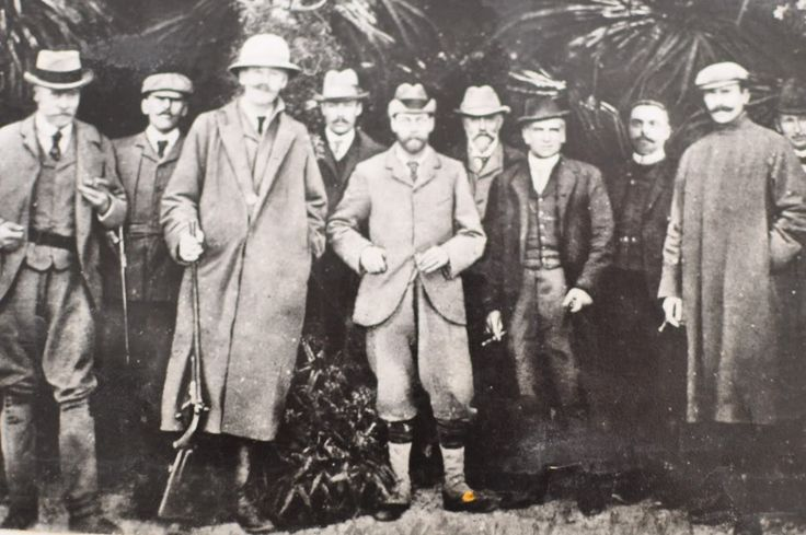 King George V in 1910, stag hunting in Mauritius